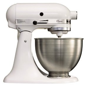 kitchenaid artisan mixer in white