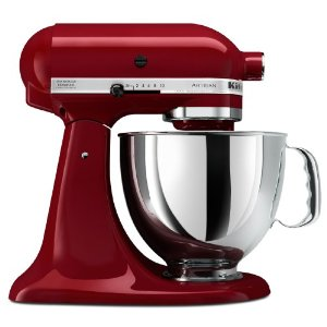 Red Kitchenaid Artisan Mixer