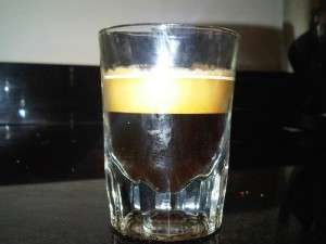 2oz shot made with Gaggia Classic